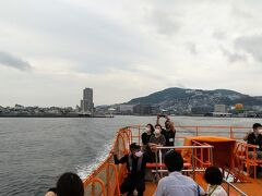 8:50 出港。船尾に長崎港。