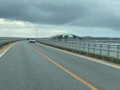 下地空港から宮古島へ渡る時に通った 『伊良部大橋』3540m