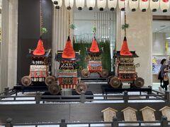 大丸には祇園祭の展示。