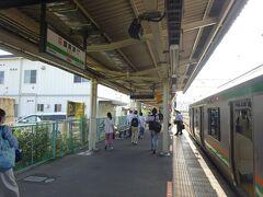 大磯、二宮と停まって、国府津駅に着いた。 ここで降りる。