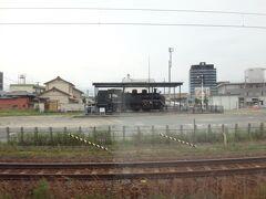 行く時に気になった半田駅構内のSL。  「C11 265」最後に武豊線を走ったSLらしい。
