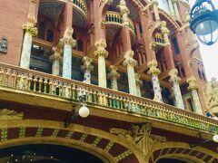 『カタルーニャ音楽堂』 アントニ・ガウディのライバルである「リュイス・ドメネク・イ・モンタネール」の作品 こちらも世界遺産