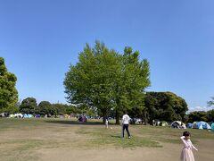 川崎大師でお参りを済ませた後は大師公園に向かいました。 お天気もいいのでテントでくつろぐ人がいっぱい。