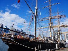 そして2021年5月に私が乗船した帆船がジェームズ・クレイグ James Craigです。バーク型・650トン・全長70m・1874年に英国で製造。金属製の船としては初期型で、帆船のピークの時代だった頃です。19世紀後半に貨物船として世界中で活躍していたそうです。20世紀に入ると蒸気船が主流となり帆船は衰退していきます。 https://www.shf.org.au/explore-the-fleet/our-operational-vessels/james-craig-1874-tall-ship/