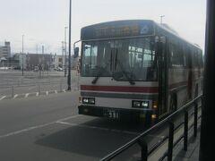 では、バスの発車時刻となりましたので、バス停に戻ってこちらに乗車しましょう。