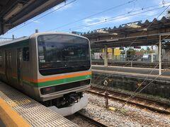 JR国府津駅です。  線状降水帯とやらで、短時間にドドッと雨が降る今年の梅雨ですが、この日は突如、終日晴れっぱなしでした。