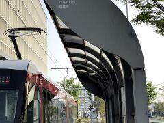 熊本駅前で一旦乗り換え、二駅で終点の田崎橋。歩いて、熊本駅まで戻る。