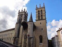 ペルー公園の少し北側にあるモンペリエ大聖堂(Cathedrale Saint-Pierre de Montpellier)は、旧ラングドック・ルシヨン地域で最大規模のゴシック様式大聖堂です。元々は修道院礼拝堂でしたが、1536年に大聖堂として建造されたとのこと。