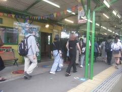 あんなに乗っていた乗客のほとんどがお隣富士急ハイランド駅で降りた