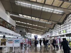 新潟空港に到着しました。