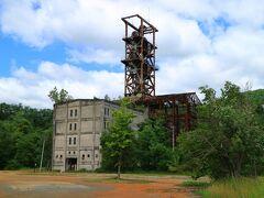 三笠に移動した後に旧住友奔別炭鉱立坑櫓を外から見学 こちらは、立ち入り禁止になっている。