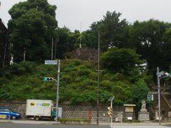 そびえ立つ 品川神社の富士塚