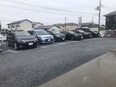 有名佐野ラーメンの大金までドライブ  他県No.が多数  駐車場は裏にも20台くらいあり
