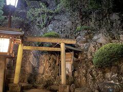 その途中に富士塚の登山道がありました。