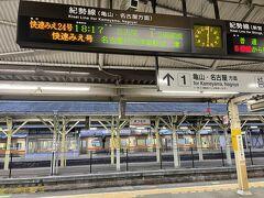 <松阪駅>  それにしても18:17発なのに18:00に駅にいるなんて時間ありすぎ。 17:30からローストビーフ丼を食べても間に合ったかな。 でもいつも最後にバタバタするのでこれで良かったのか。 それより岡崎の夜桜を調べないと!  などと独り言。  JR快速みえ24号 松阪駅18:17発⇒(省略)⇒名古屋駅19:30着