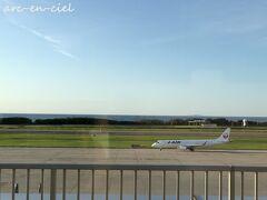 水上駅では曇天でしたが、新潟空港では、快晴!