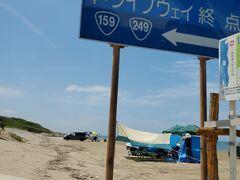 走るクルマからの撮影は大変。 千里浜なぎさドライブウェイに来た。