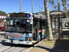 「リビエラ逗子マリーナ前」で下車しました。  帰りのバス停はどこかな?普通は斜め前か斜め後ろにあるはずなのに ありません。  少し、遠くにあるようです。