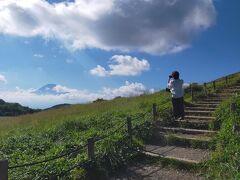 富士山方面 雲がとれるのを待って撮影タイム