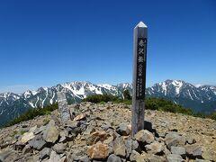 赤沢岳に登頂。日本百高山の99座目。