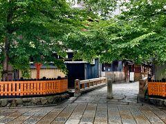 巽橋。。4月は桜が散ってしまった後だったけれど。。 今回は青々と葉桜が綺麗だわ(´▽`)