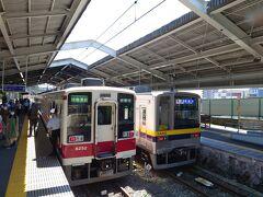 ★10:45 1時間半ほどで東武日光駅に到着。右側に停まっている20400形は6050系の後継車となる電車。日比谷線のお古なので「オールロング・トイレなし」と、6050系からの劣化が激しくなってしまいました…せめてトイレ位付けて欲しいです。