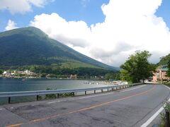 中禅寺湖到着後は少し一息つこうと、ある場所を目指すことに。