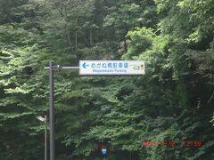 めがね橋:迷ってやっと見つけた標識、ナビで探せなかった(旧道にあるんですね)