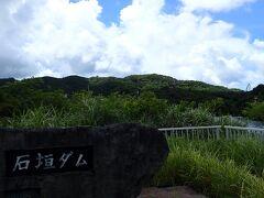 日本最南端の石垣ダムへ。サブネームはダム湖に佇むセイシカの花 元気に草が生えてます。 向こう側にバンナ公園のセイシカの橋が見えます。
