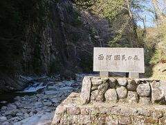 面合渓谷は、UFOラインから続く石鎚山スカイラインの麓にあります。