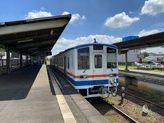 最初に乗った列車は水海道止まりでした。