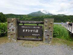 次に向かったのは利尻島南部のオタトマリ沼です