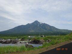 仙法志御岬公園からは利尻山が綺麗に見えました  最高の景色です