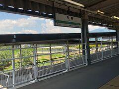 あの戦国時代の川中島の戦いの、川中島駅が見えれば長野駅です。