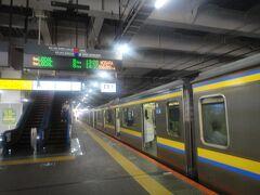 JR千葉駅 13:26発  茂原行電車。