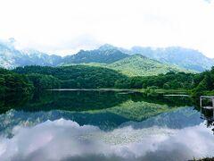 まずは鏡池に行きました。 農業用の溜池とは思えない綺麗な池。