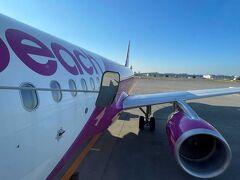 17時30分発成田空港行きのピーチ582便に搭乗します。