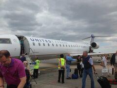シカゴ・オヘア空港からネブラスカ州オマハへのフライトはこの機でのフライトです。
