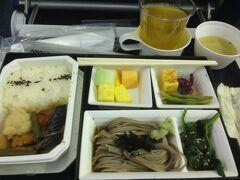 あっという間の米国出張。帰り最初の機内食は和食を選びました。