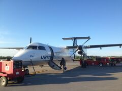 シラキュース空港からJFK空港まではプロペラ機で飛びます。高度低く飛ぶので結構好きです。