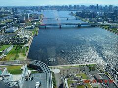 その35階のスーペリアビューバスキング。 窓辺には東京ベイエリアの眺望が広がります。