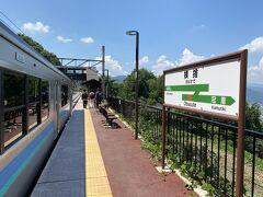 長野から30分ほど姨捨駅に到着。 この駅で降りるのは初めて。 どんな景色が見れるのでしょうか。