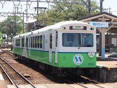 途中の日永駅にやって来ました。。