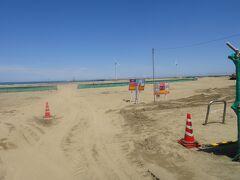 波崎海水浴場 ・・・・ですが、工事中のため海水浴は不可!!
