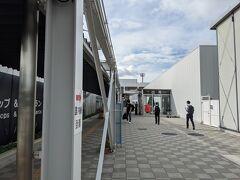 熊本空港到着。  いろいろ改装中で、比較的きれいでした。  ここから市街にバスで移動です。suicaとかも使えます。
