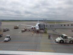 9:40 定刻通り新千歳空港に着陸しました。  さあ、これからどうしようかな~  北海道に来て予定がないという贅沢さよ!