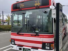 下北駅前から佐井車庫前行きのバスに乗車。