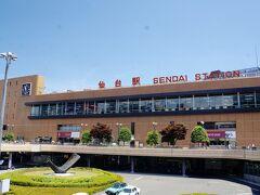 仙台空港到着後は、仙台駅に移動して まずはこの写真。  これを撮らないと仙台が始まらない。