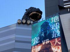 歌舞伎町に入って まずは、ニャジラより先にゴ~ジラ
