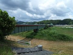 天竜川橋梁。天竜浜名湖鉄道が通っています。